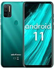 Ulefone Note 11P Android 11 mobiele telefoon 6,55 inch, 8 GB + 128 GB, 4400 mAh, voordelige smartphone, camera 48 MP + 8 MP + camera 2 MP, sleuf voor 3 kaarten, vingerafdruk, 4G Dual SIM (netwerk)