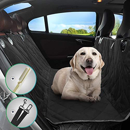 YECAI Hond Auto Stoel Cover Huisdier Achterbank Beschermer Waterdichte Scratch Proof Nonslip Hond Reizen Hangmat met Huisdier Haarverwijderaar voor Auto's en SUV