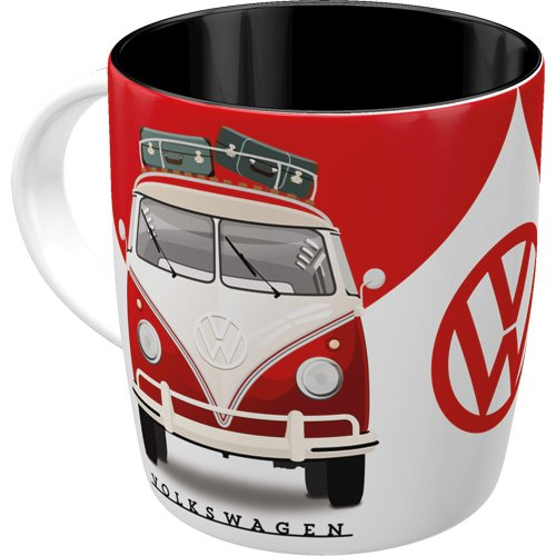 Nostalgic-Art - Volkswagen Retro Kaffee-Becher - VW Bulli T1 - Good In Shape, Große Lizenz-Tasse als Vintage VW Bus Geschenk-Idee, 330 ml
