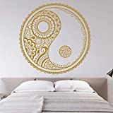 LKJHGU Mandala Taoismus Mode Wandaufkleber Wohnzimmer Poster Vinyl Wand Schlafzimmer Kunst Dekoration