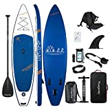 Soopotay Inflatable Standup Paddleboard, Inflatable SUP Board Stand Up, iSUP Package with All...