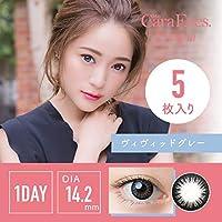 ワンデーキャラアイUV&モイスト カラーシリーズ 5枚入 【ヴィヴィッドグレー】 -4.25