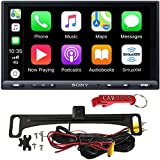 "Sony XAV-AX5000 7"" Car Multimedia Receiver Safe Driver's Bundle with HD Backup Camera. 1DIN Chassis with Bluetooth, Apple Car Play, Android Auto, Sirius XM Ready."