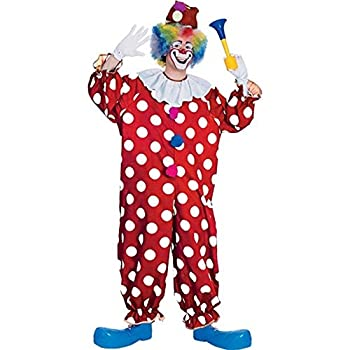 Rubie s Haunted House Collection Dotted Clown Costume Red One Size