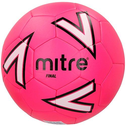 Mitre Finale Pallone da Calcio, Unisex, Final Recreational, Pink/White