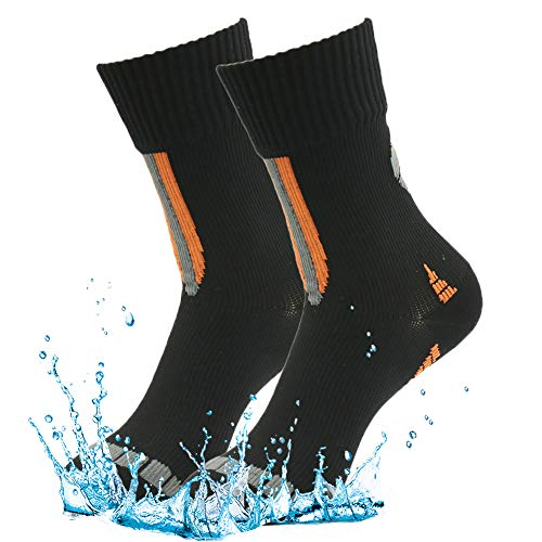 100prozent wasserdichte atmungsaktive Socken [SGS-zertifiziert] RANDY SUN Unisex Sport Klettern Ski Trekking Wandern Socken Gr. M, 2 Paar; Schwarz