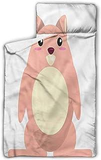 "Ahuimin Toddler Nap Mat, Anime,Beaver Kawaii Cartoon, 43"" x 21"" Children's Sleeping Bag with Removable Pillow for Preschool, Daycare, Sleepovers"