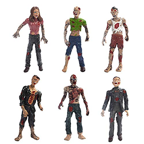 DOYIFun 6 Pcs Zombie Action Figures Toy,Walking Dead Toy Figurines Terror Corpse Dolls for Zombie Lovers to Collect