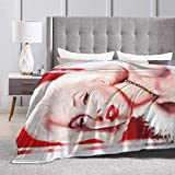 Engshi Coperte e trapunte Marilyn Monroe Throw Blankets Microfiber Bedspreads Fleece Blankets Ultra Soft Coral Bedcover for Bedroom Living Room Sofa Couch 50x40 Inches
