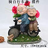 Señoras viejas y viejas y damas viejas creativas decoran manualidades caseras Regalos para los amantes del lavado de pies del marido y la esposa, señoras mayores y nueras chinas, paseo en bicicleta