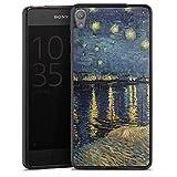 DeinDesign Silikon Hülle kompatibel mit Sony Xperia E5 Hülle schwarz Handyhülle Vincent Van Gogh Kunst Malerei