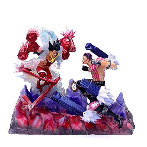 Gtrjin Figura De Anime De Una Pieza Gear 4 Luffy Vs Charlotte Katakuri Figura De Acción 26Cm, Figura De PVC Gk Estatua Colección Modelo Juguetes Muñeca Regalo