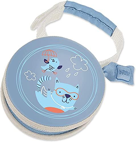 MAM Pod - Bolsa para chupete con cierre de velcro para fijación flexible, diseño de gato