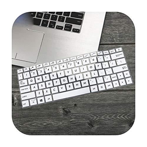 TOIT - Protector de pantalla para Asus ZenBook 13 UX333 UX333FA UX333FN UX333F U3300 UX 333 UX 333 FA FN 13 3' 3 ' tapa teclado portátil blanco