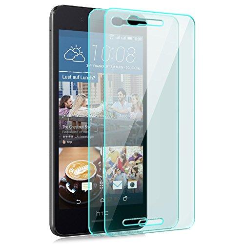 Saxonia [2 Stück Bildschirmschutz Folie kompatibel mit HTC Desire 728G Dual SIM Bildschirmschutzfolie aus gehärtetem Glas Schutzglas Glasfolie Schutzfolie | HD Klar Transparent
