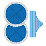 ROLLIBOT Replacement Spin Mop Heads for M6 2-in-1 Electric Mop | Microfiber Cleaning Pad with Cotton Mopping Edge — Machine-Washable, Suitable for Sealed Hard Floors (Linoleum, Hardwood, etc.)