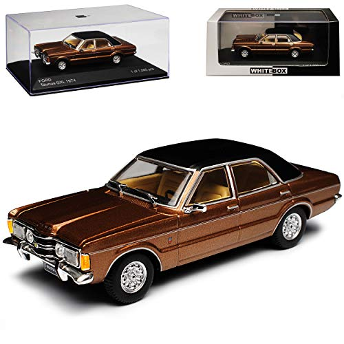 WHlTEBOX Ford Taunus TC GXL Limousine Braun 1970-1982 limitiert 1 von 1000 Stück 1/43 Whitebox Modell Auto