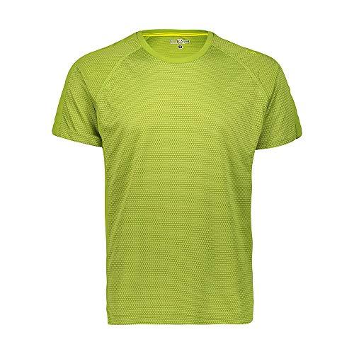 CMP Hommes Jaquard Jersey t-Shirt, Vert, 56