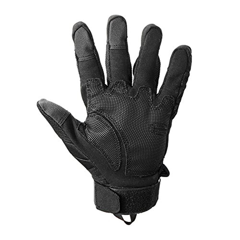 散らすけがをするパスタBeho 手袋屋外スポーツタッチスクリーンフル指 PU レザー反スキッド - L