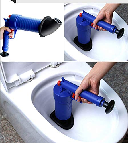 Luftdruckablasspumpe Rohr Dredge Werkzeuge, Air Power Hochdruckablass Opener Blaster für WC Badezimmer, Abfluss für das Ausbaggern Startseite Badewanne Waschbecken mit 4 Suckers