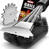 9. GRILLART Grill Brush and Scraper 18 Inch | Wire Bristle Brush Double Scrapers | Best Barbecue Cleaning Brush for Weber & All Gas/Charcoal Grilling Grates | Universal Fit BBQ Grill Accessories