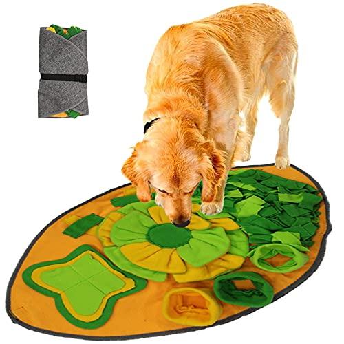 SUPCHON Schnüffelteppich Hunde, Hundespielzeug Intelligenz Trainingsmatte, Soft Waschbar Faltbar Riechen rutschfest Futtermatte, Intelligenzspielzeug für Hunde Spielsachen