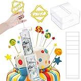 WILLBOND Kuchen Spardose Geld ziehen Kuchen Machen Form Wiederverwendbare Geld ziehen Box für Birthday Party Supplies (1 Stücke)