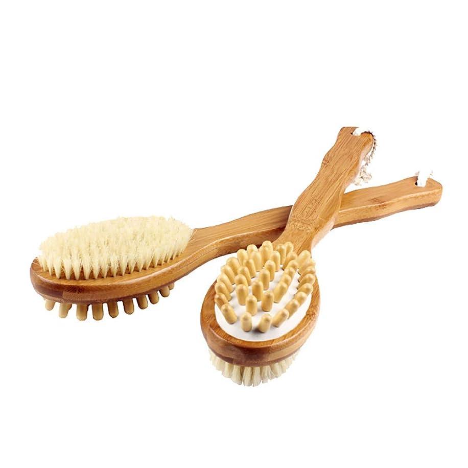 行政不毛の材料竹両面マッサージみがきます、浴みがきます、ブラッシングと長いですハンドル、セルライトマッサージ師、バックスクラバーみがきます、プレシャワー&浴みがきますにとってドライ肌角質除去