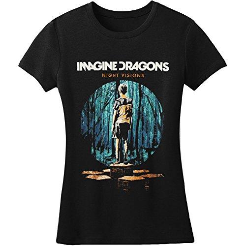 Imagine Dragons–Damen Cover Sketch T-Shirt Gr. Medium, schwarz