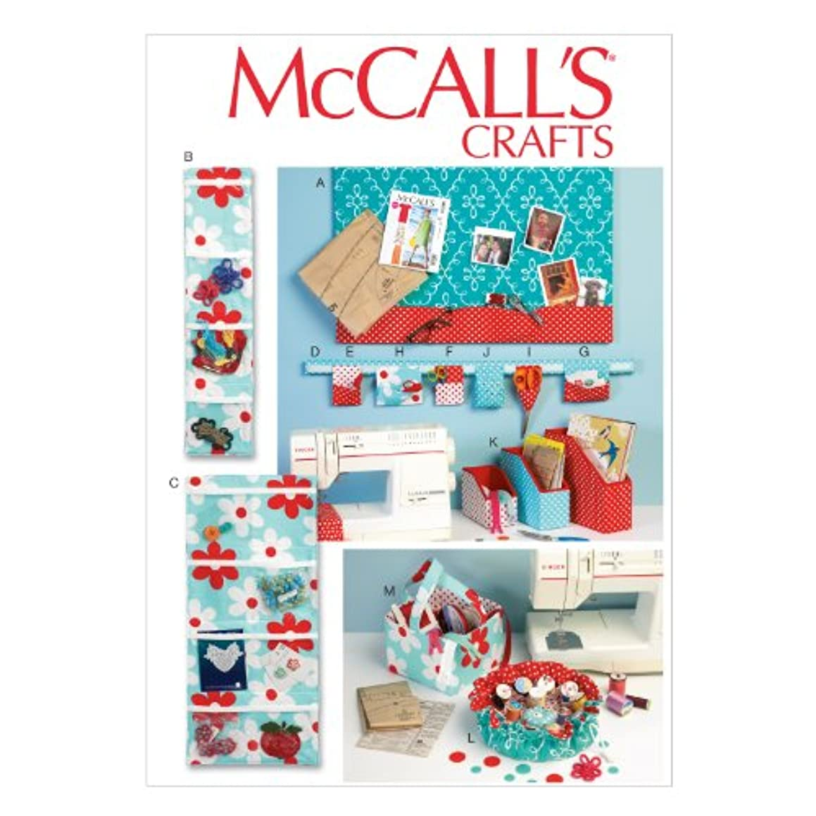 McCall Pattern Company M6909 Organizer and Storage Bins Sewing Template, One Size Only