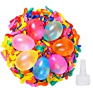 500 Pack Water Balloons with Quick Refill Kits, Eco-Friendly Latex Water Bomb Balloons for Kids and Adults Water Fight Games - Swimming Pool Outdoor Party Summer Splash Fun