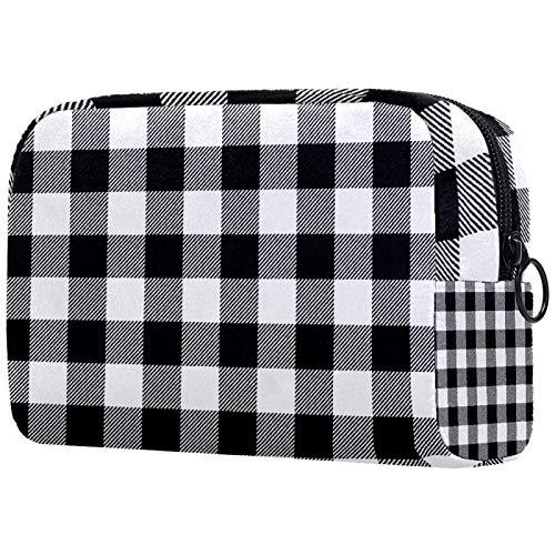 Kosmetiktasche Womens Waterproof Makeup Bag Für Reisen zum Tragen von Kosmetika Wechselschlüssel usw. Nahtlose White Buffalo Plaid