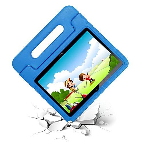 cradle HR Funda Protectora para Huawei MediaPad T3 10 de Pulgadas y Huawei Honor Play Pad 2 de 9.6 Pulgadas, Funda Protectora Ligera de EVA a Prueba de Golpes con Soporte (Azul)