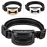 ShioSel, Bark Collar for Small, Medium, Large Dog - Stop Barking with Ultrasound and Harmless Shock - Intelligent Anti-Barking Deterrent Device (Black)