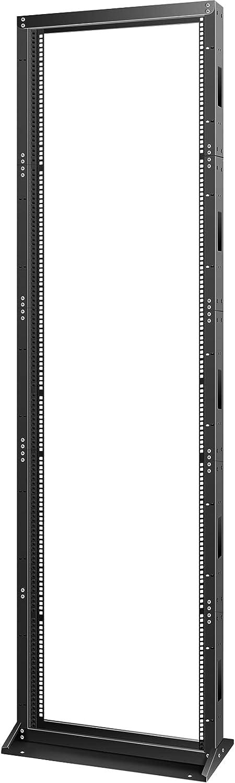 VEVOR Server Rack, 45U Open Frame Rack, 2-Post IT Server Network Relay Rack, 19 Inch Server/Audio Network Equipment Rack Cold Rolled Steel, Heavy Duty Threaded Rack, Holds Network Servers & AV Gear