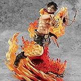 XXSDDM-WJ Regalo One Piece Portgas-Fist Fire D Ace Action Figure 25cm Statua Modello Anime Ornamenti Souvenir Craft Burattini Giocattoli per Regalo Portgas D Ace-Portgas · d · Ace WQ9