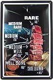 Blechschild 20x30cm gewölbt Beef Fleisch Steak Garstufen