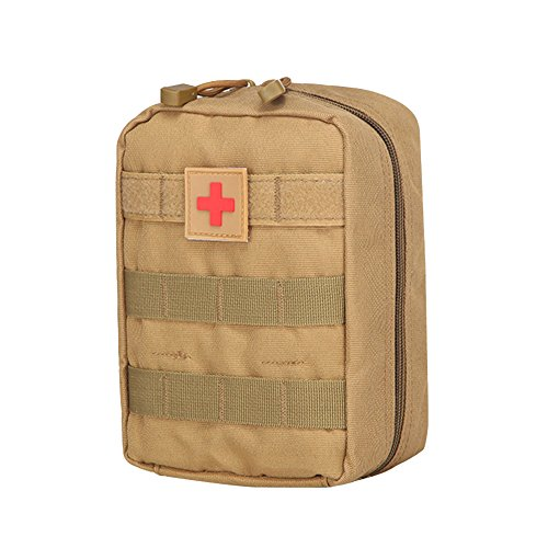 Mini Portable Pochette EMT Médecine Tactique Molle Sac de Premiers Soins Kit de Premier Secours Militaires pour Randonnée Camping Airsoft(Type 2)