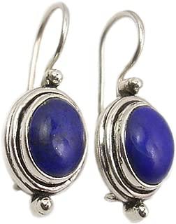 Lapis lazuli boucles d/'oreilles Naturel Bleu Lunette Petit 14k or Massif ou argent sterling