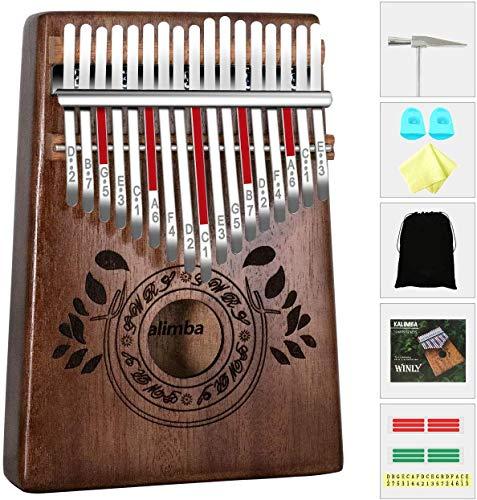 Kalimba 17 Clés Pouce Piano, Portable pouce doigt, bois...