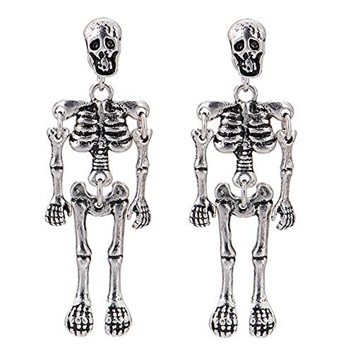 Pendientes de moda para mujer, diseño de oreja, para esqueleto, para fiestas diarias