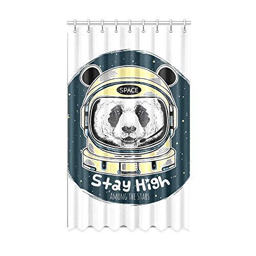 NA Cortinas de Ventana Habitación Galaxy Space Panda Astronauta Cortinas de Ventana Grandes de Dibujos Animados 50 X 84 Pulgadas de una Pieza para Patio Puerta corrediza de Vidrio/Dormitorio