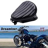 DREAMIZER Asiento Bobber de Motocicleta Gruesa Negro, Asiento Moto Solo para Sportster XL883 1200 Dyna Fat Bob Chopper Custom