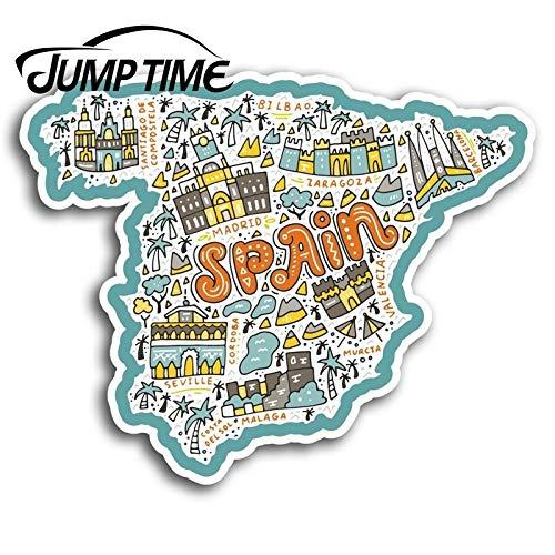 BLOUR España Mapa Vinilo Pegatinas Madrid Málaga Pegatina Laptop Equipaje Camión Ventana Parachoques Calcomanía Accesorios Impermeables