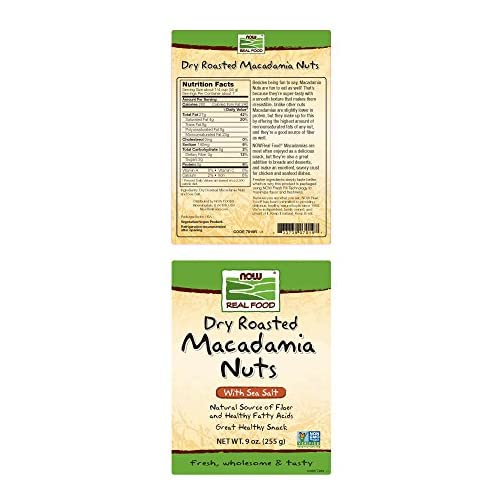 NOW Foods, Macadamia Nuts, Dry Roasted with Sea Salt, Source of Fiber, Gluten-Free and Certified Non-GMO, 9-Ounce 4