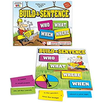 LEARNING ADVANTAGE Build-A-Sentence - Learning Games for Kids - Sentence Building and Literacy Game - Homeschool Supplies