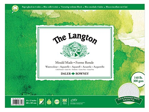 Daler Rowney Langton Block 140lb NOT 16in x 12in (Each)