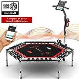 Sportstech HTX100 Trampoline de Fitness Intelligent, connecté avec Appli + Compteur de sauts &...