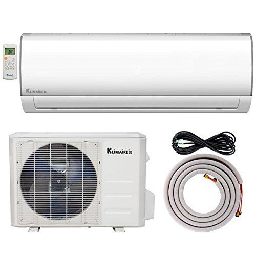 Klimaire KSIF012-H115-S BTU 16 Seer Ductless Mini-Split Inverter 13'. Installation Kit (115V) Air Conditioner Heat Pump System, 12,000 BTU-115 V