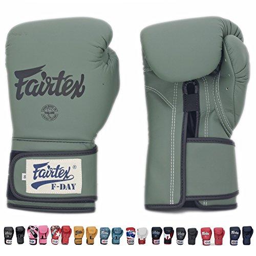 Fairtex Muay Thai Boxing Training Sparring Gloves (F-Day,16 oz)